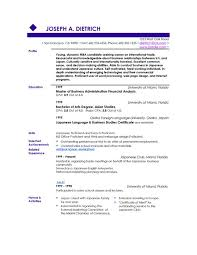 One Job Resume Templates by Resume Examples Good Resume Layouts Example Good Resume Template