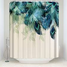 Peacock Curtains Prime Leader Watercolor Decor Shower Curtain Peacock