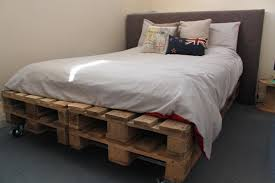 Bookshelves With Lights Pallet Bedroom Set Bed With Lights Brown Pillows Open Wall Shelves