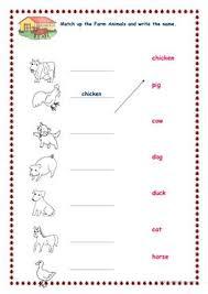 121 free esl farm animals worksheets