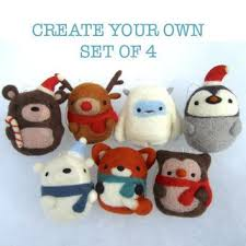 decorations choose your own set of 4 needle felted