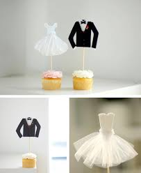 and groom cupcake toppers in decoration stuff for cupcakes