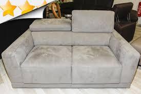 canap en alcantara fixe canapé 3 places tissu gris 990 00 par attraction canapés