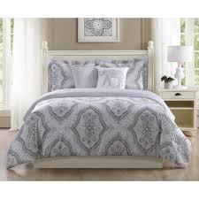 5 Piece Duvet Set Studio 17 Kyra Grey 5 Piece Full Queen Comforter Set Ymz006983