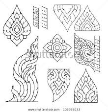 thai basic ornament vector can be apply for tattoo pattern or