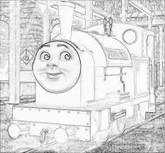 free peter sam coloring pages download print thomas train
