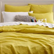 Yellow Duvet Cover King Flax 3 Pcs 100 Pure Linen Duvet Cover Bedding Sets Linen Quilt For