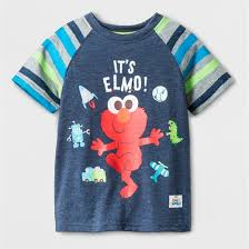 toddler boys sesame elmo t shirt blue target