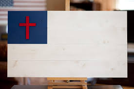 christian wood flag patriot wood