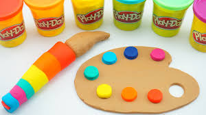 play doh how to make paint tools rainbow colors creative diy fun