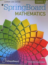 amazon com springboard mathematics common core edition course 2