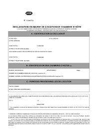 louer une chambre a déclaration en mairie de location de chambre d hôte formulaire