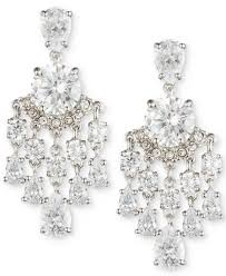 silver chandelier earrings carolee silver tone chandelier earrings jewelry