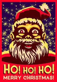 ho ho ho christmas vector illustration vintage santa claus fat