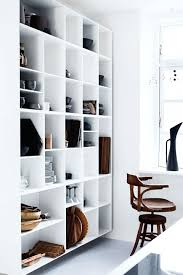 decordots white open shelving in kitchen cube box shelf