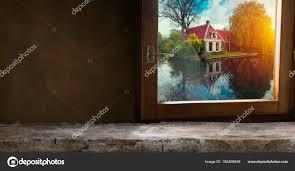 Spaces Un Gestionnaire De Fenêtres Espace Sombre Avec Fenêtre En Table De Bureau Fond Photographie