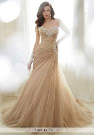 brown wedding dresses strapless wedding dresses