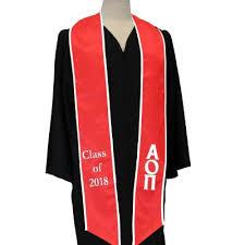 customized graduation stoles custom graduation stoles fraternity sorority stoles