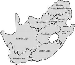 map of south africa south map