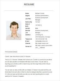 exles of a simple resume basic template for resume pertamini co