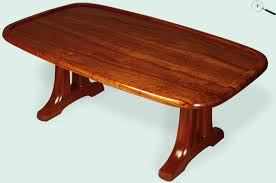 Trestle Coffee Table Jeffrey Dale Designer Tables Koa Open Trestle Coffee Table