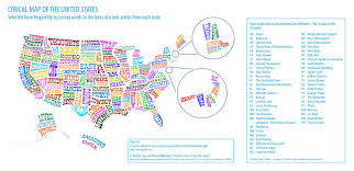 Map Of The 50 United States by A Lyrical Map Of The United States Visual Ly