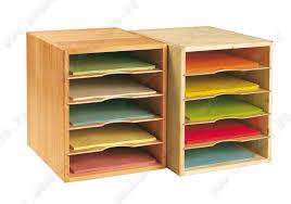 organiseur de bureau en bois module de rangement bois