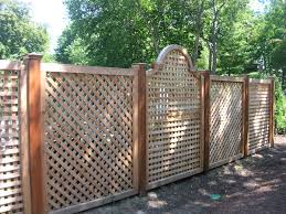 unique wood fence designs wood lattice alternating custom arch