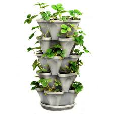 mr stacky vertical 5 tier strawberry herb flower planter