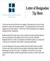 sample resignation letter for new job 7 examples in pdf word