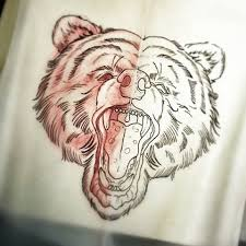 traditional screaming bear head tattoo design tattooimages biz