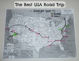 Best Road Trip Map The Best Usa Road Trip U2013 Melissaclarkedigital