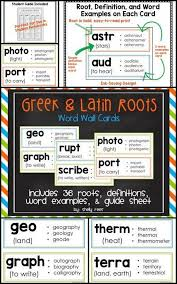 what is the latin root meaning light greek and latin roots and affixes posters roots greek and students