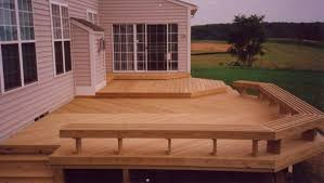 Build Deck Bench Seating Decks A U0026 T Roofing And Construction Llc
