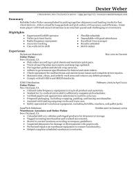 Sample Resume For Forklift Operator by Pick Packer Resume Sample Youtuf Com