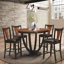 5 piece table and chair set coaster boyer contemporary 5 piece counter height table and chair