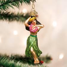 amazon com old world christmas hula dancer glass blown ornament