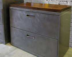 industrial lateral file cabinet filing cabinet wood etsy