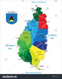 Map Caribbean Political Map Caribbean Island Saint Lucia Stock Vector 101898352
