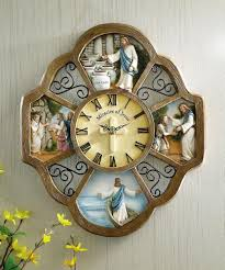 inspirational christian miracles of jesus wall clock new clocks