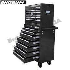 Garden Tool Storage Cabinets Home Mechanic Tool Box Storage Cabinet Chest Trolley Black Toolbox