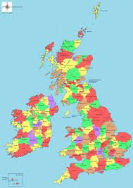Map Of World Uk by Map Of Uk Counties World Map