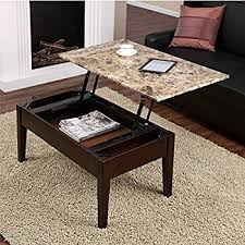 lift top cocktail table amazon com dorel living faux marble lift top coffee table intended