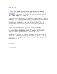 sample resignation letter one month notice expense report