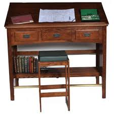 Oak Drafting Table Mission Library Desk Drafting Table