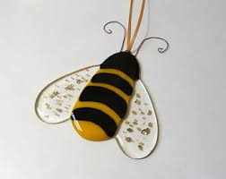 stained glass bee etsy
