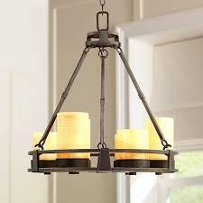 faux candle light fixtures sunset onyx stone 6 light faux candle chandelier k5863 ls plus