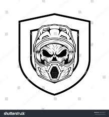 skull motocross helmet royalty free skull motocross and mountain bike helmet 399141043