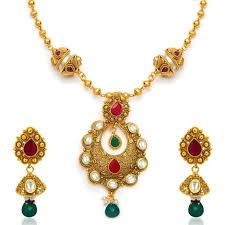 ladies necklace sets images Buy sukkhi traditionally antique gold plated kundan necklace set jpg