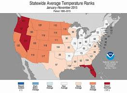 temperature map florida florida s record warm 2015 an outlier in u s east climate central